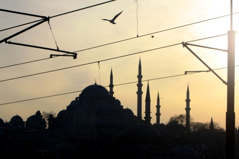 Suliyemaniye Mosque sunset