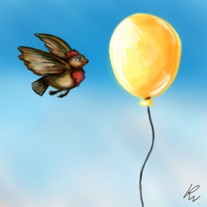 Bird and balloon