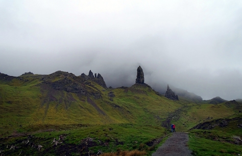 Old Man of Storr in the mist