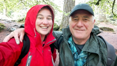 Dad and me in the forest