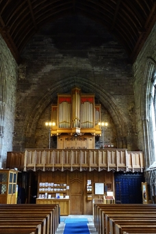 Inside the atmospheric Dunkeld cathedral