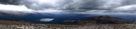 The view from the top with Loch Morlich below