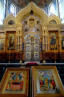 Altar gate and Icons