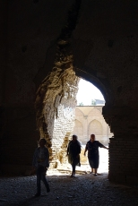 Women entering the unrestored tower
