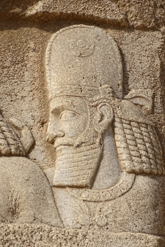 Carving of a king at the tombs